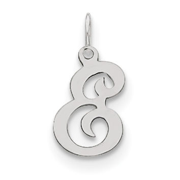 Sterling Silver Stamped Initial E Charm QC4163E