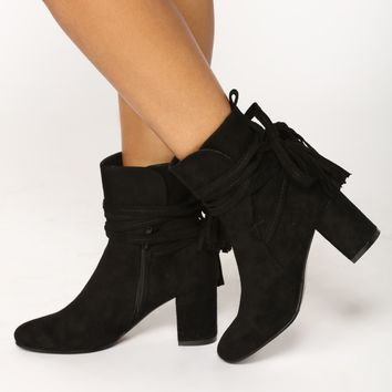 Gorgonio Wrap Up Bootie - Black