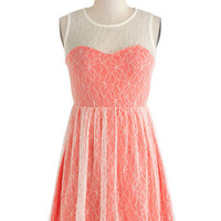 Coral Cocktails Dress | Mod Retro Vintage Dresses | ModCloth.com