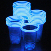 24 Glowing Glow Stick Party Cups (16-18oz, 6 color assortment)
