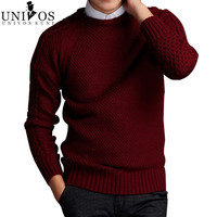 Men Sweaters Pullovers Knitting Thick