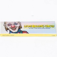 "1 1/4 Lion Rolling Circus Ultra thin ""Silver Line"" Natural Rolling Papers"