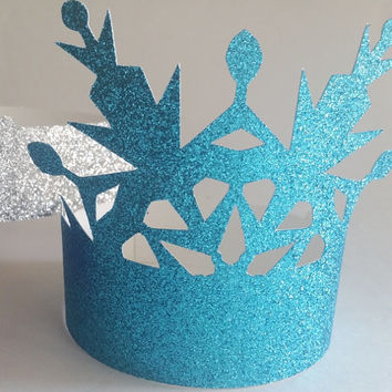Disney Frozen inspired glitter crown photo booth props birthday party,  bridal shower, wedding  elsa, anna, princess,  queen,  tiara,  royal