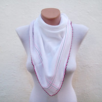 Handmade Traditional Turkish Fabric Scarf- Needle Lacework