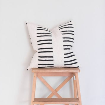 Piano Keys | Mudcloth Pillow