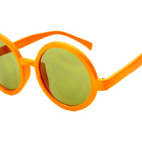 Womens Vintage Retro Style Circle Round Sunglasses Orange R645