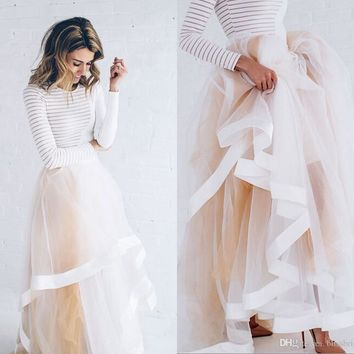 Women Bust Skirts All Colors Multilayer Long Length Adult Tutu Tulle Skirt A Line Plus Size Skirt For Women
