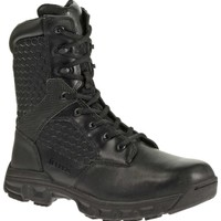 "Bates Women's Code-6 8"" Side Zip Work Boots - Black 