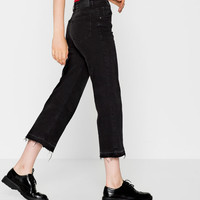 Cropped fit jeans - Jeans - Clothing - Woman - PULL&BEAR United Kingdom