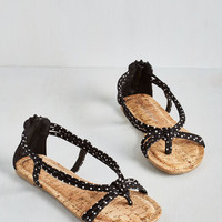 ModCloth Silly Dally Sandal in Ink