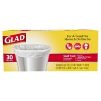 Glad® Flat Top Small Trash Bags 4gal - 30ct