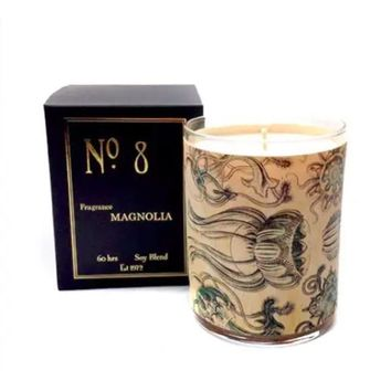 Wood Candle No. 8 Magnolia