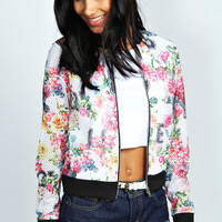 Cleo Floral Airtex Bomber Jacket