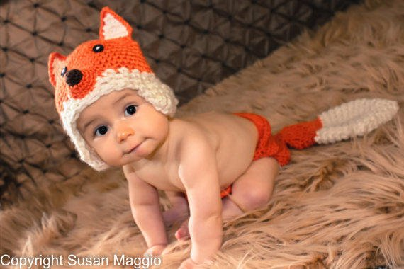 Crochet Fox Hat and Diaper cover - PDF from ...