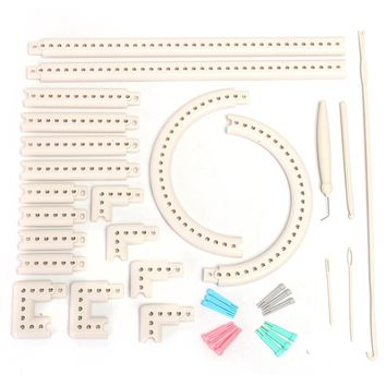 1 Set Of  Multi-function Knitting Board Knit&Weave Loom Craft Yarn Kit DIY Scarf Sweater with Instruction