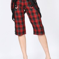 Tripp NYC - Womens Strappy Capri In Black / Red Plaid, Size: 5, Color: Black / Red Plaid