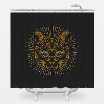 Bastet The Great Shower Curtain