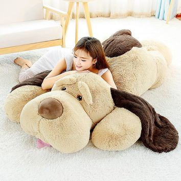 Giant Teddy Dog Plush Toy Kawaii Stuffed Puppy Dog Soft Plush Animal Pillow Home Sofa Decor 60/80/100cm