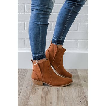 Crossing Paths Booties - Cognac