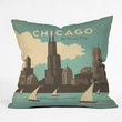 Anderson Design Group Chicago Throw Pillow