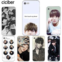 BTS V Jungkook Kpop Suga Bangtan Boys Korea Phone Cases for iphone 8 6S 6 7 PLUS X 10 5S 5 SE Silicone Soft TPU Capinha Coque