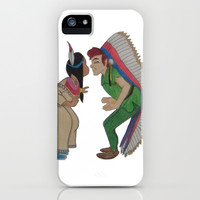 Peter Pan and Tiger Lily iPhone & iPod Case by Sierra Christy Art