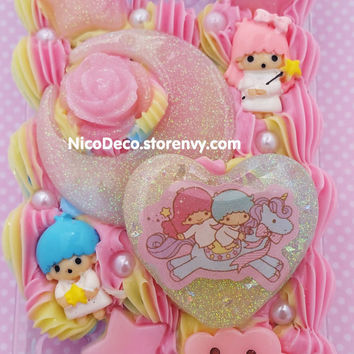 Rainbow Little Twin Stars decoden kawaii cell phone case for Samsung Galaxy s5