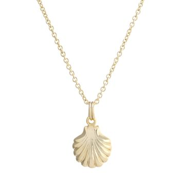 Gold Over Sterling Silver Seashell Necklace