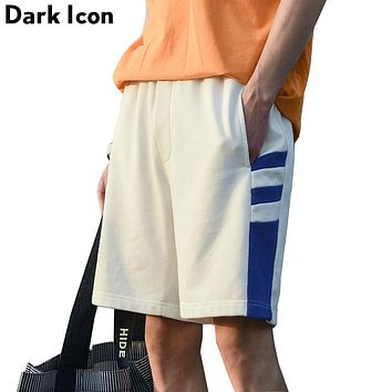 Color Block Patchwork Terry Material Men's Shorts Summer High Street Shorts Men Girl Boy Shorts 4 Colors