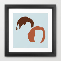 Mulder and Scully, X-Files Framed Art Print by Apricot | Society6