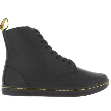 Dr. Martens Tobias - Black Greasy Leather Lace-Up Boot