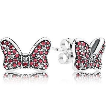 Authentic Pandora Jewelry - DISNEY Minnie's Sparkling Bow Earring Studs