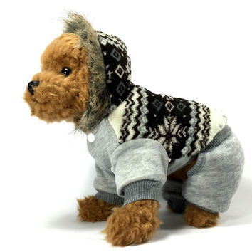 Grey Snowflake Dog Jacket