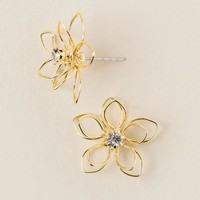 Madeline Wire Flower Stud Earring