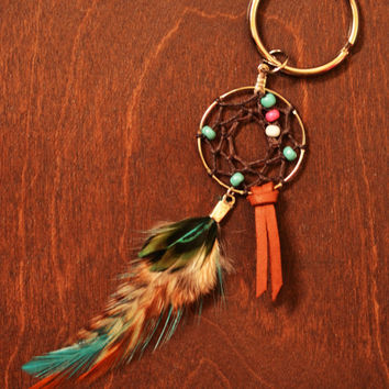 Gypsy Dreamcatcher Super Cute Small Feather Bag/Purse Charm