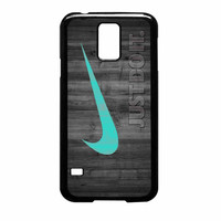 Nike Mint Just Do It Wooden Samsung Galaxy S5 Case