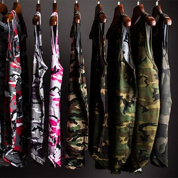 Youthcodes Military Camouflage Tank Tops Men Camo Purpose Tour Kanye West Oversized Cotton Vest Army FOG Punk Rocky Undershirt