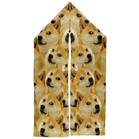 Dog Doge Meme Warm Fleece Scarf