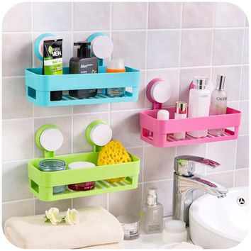 Simple life Suction cup bathroom shelf basket rack wall hanging wall shelf storage shelf bathroom accessories