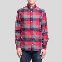 Indigo Plaid Red Japan LS