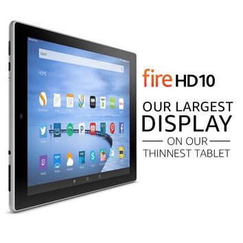 "Fire HD 10 Tablet with Alexa 10.1"" HD Display 16 GB Silver Aluminum - with Special Offers"