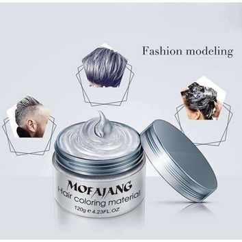 Hair Wax 120g Does Not Hair Hurt Silver Gray One-Time Hair Dye Fifty Degrees Grey Hair 7 Colors