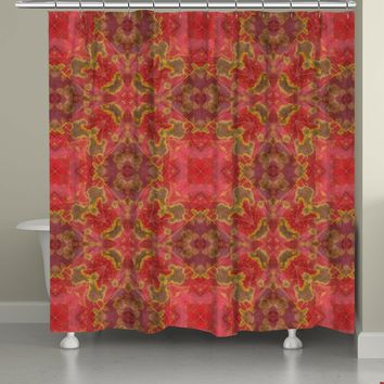 Warm Crepe Myrtle Shower Curtain