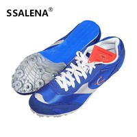 Men Health Long-Jump Jumping Shoes Spikes Student Track And Field Shoes For Men Breathable Sneakers Size 35-42 AA11101
