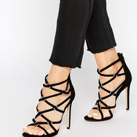 Dune Memphis Strap Heeled Sandals at asos.com