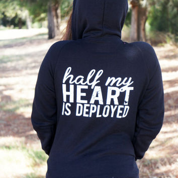 The Longer the Wait, zip hoodie. usmc navy army usaf wife girlfriend