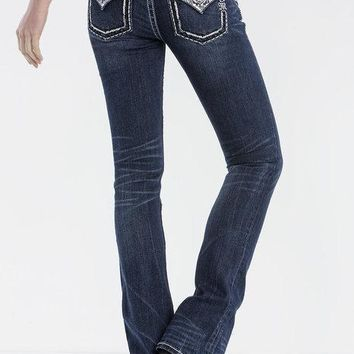 MISS ME- MOONLIGHT MAGIC SLIM BOOT CUT JEANS- JP7749SB