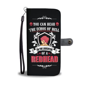'Laughter of a Redhead' [Woman] Wallet Phone Case