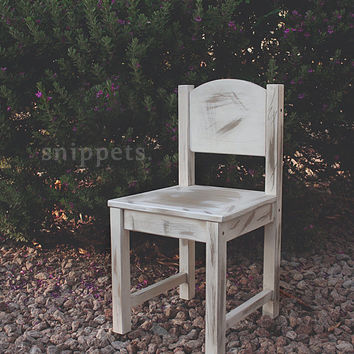 Hand Distressed Chair Prop For Toddlers - photography prop, antique chair prop, stool prop, vintage prop