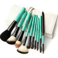 10 Pcs Premium Makeup Brush Set Kit with Case